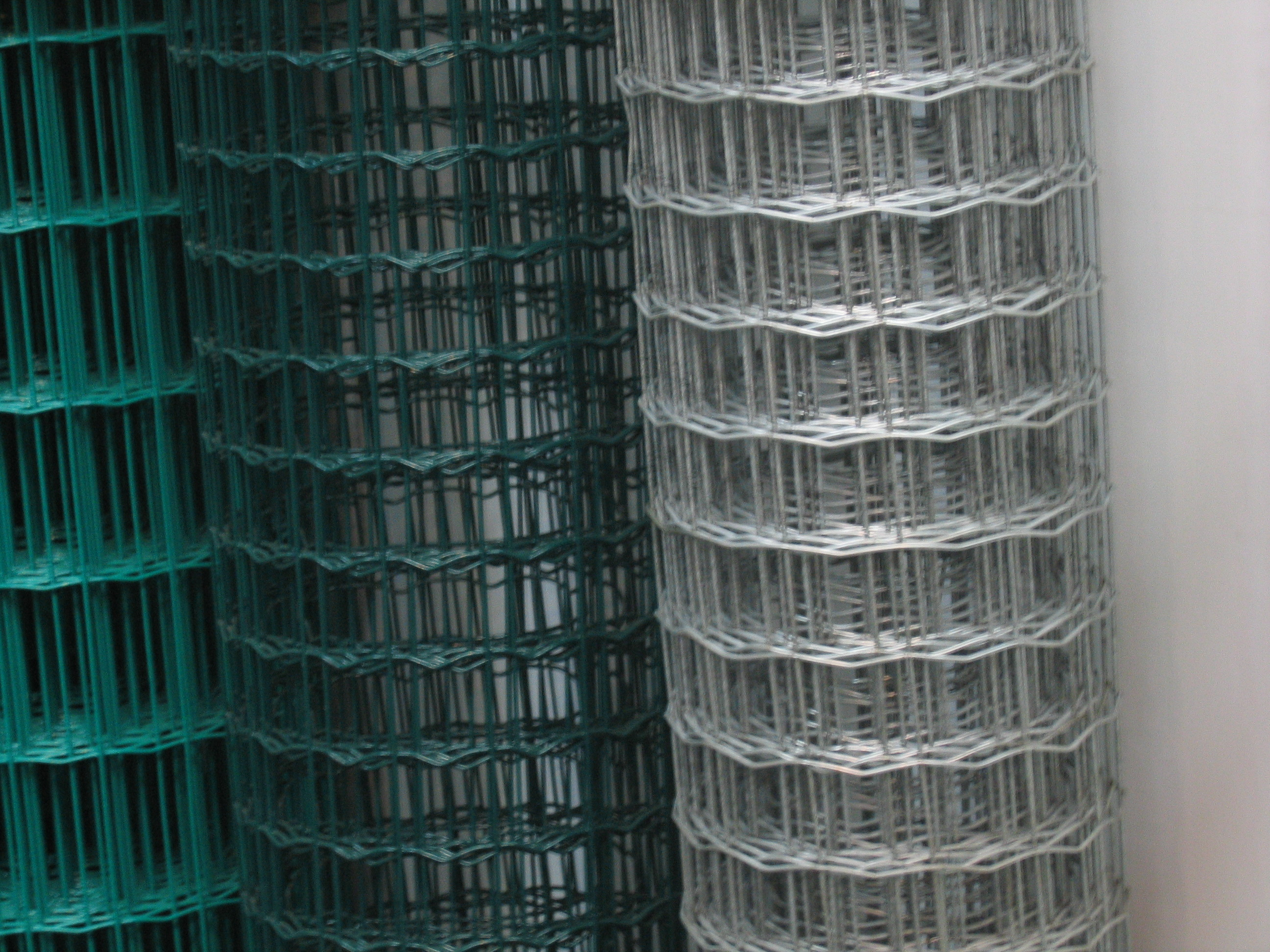Plastic coated fence